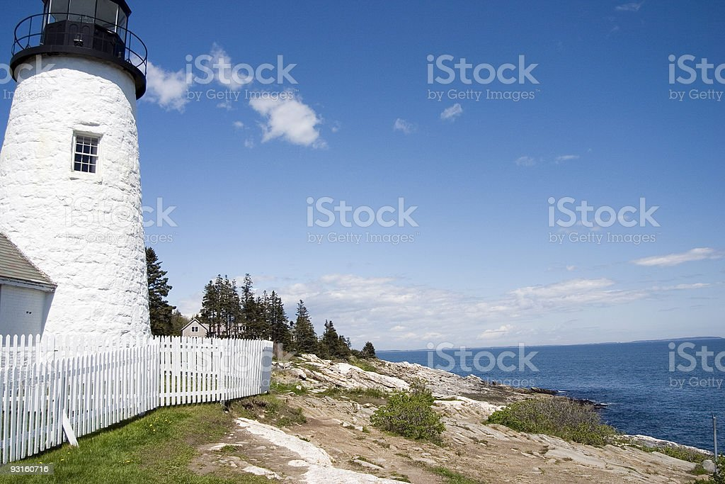 Pemaquid Point Lighthouse, Maine 2 royalty-free stock photo