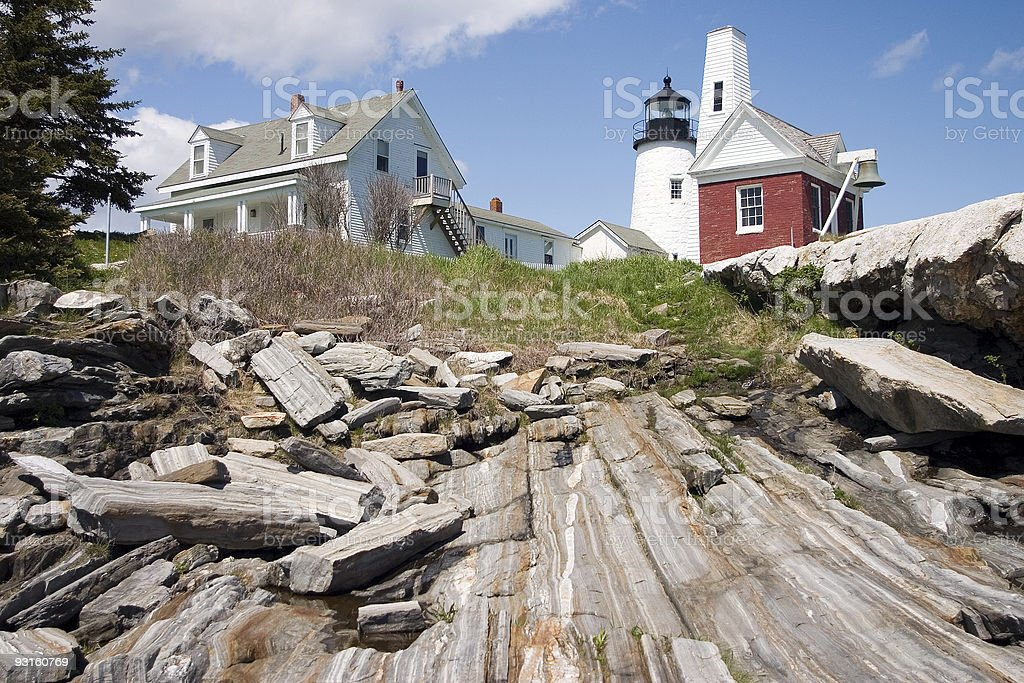 Pemaquid Point Lighthouse, Maine Horizontal royalty-free stock photo