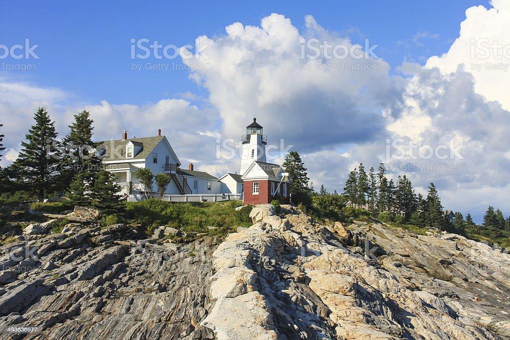 Pemaquid Point Lighthouse, Maine, USA stock photo
