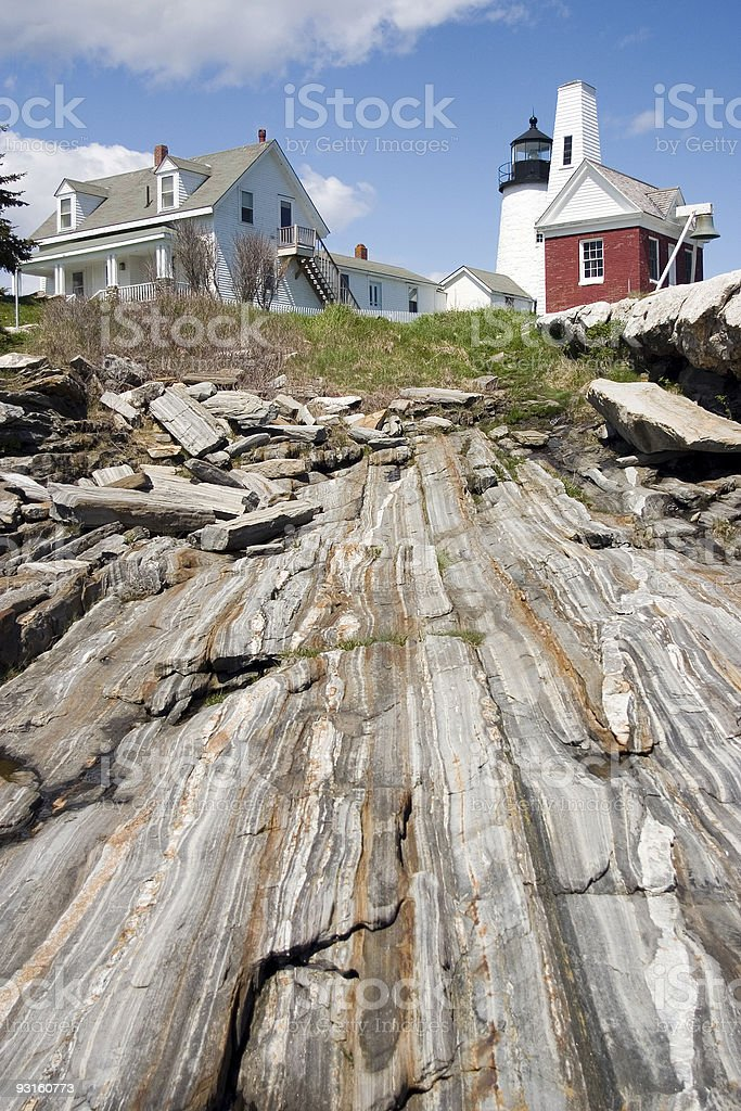 Pemaquid Point Lighthouse, Maine Vertical royalty-free stock photo