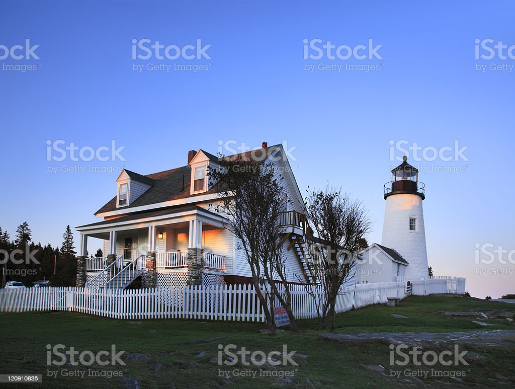 Pemaquid Point Lighthouse stock photo
