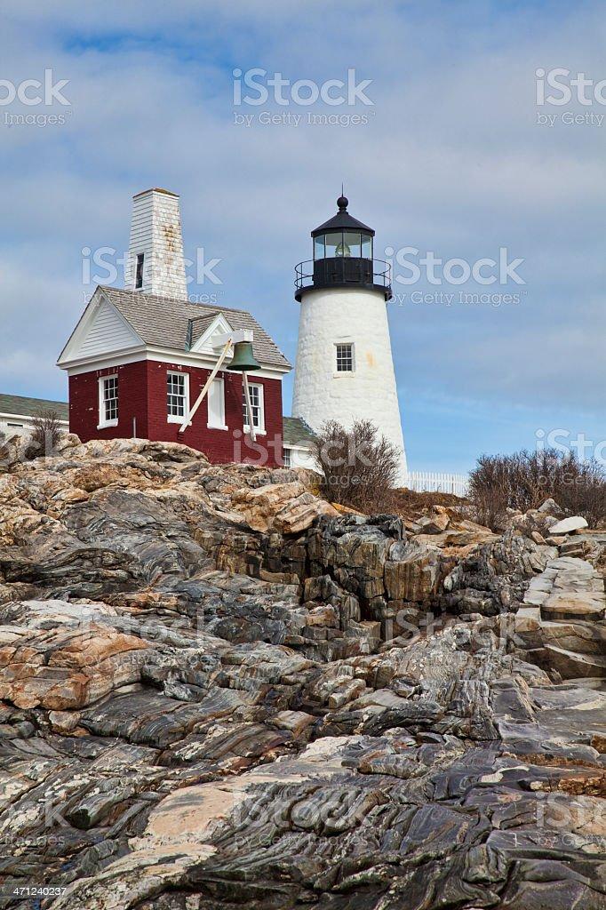 Pemaquid Point Lighthouse stock photo