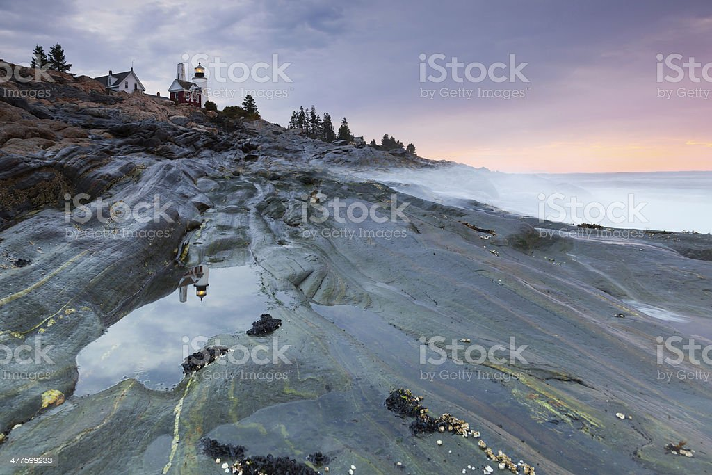 Pemaquid Point lighthouse royalty-free stock photo