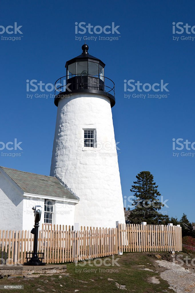 Pemaquid Point Lighthouse Tower stock photo