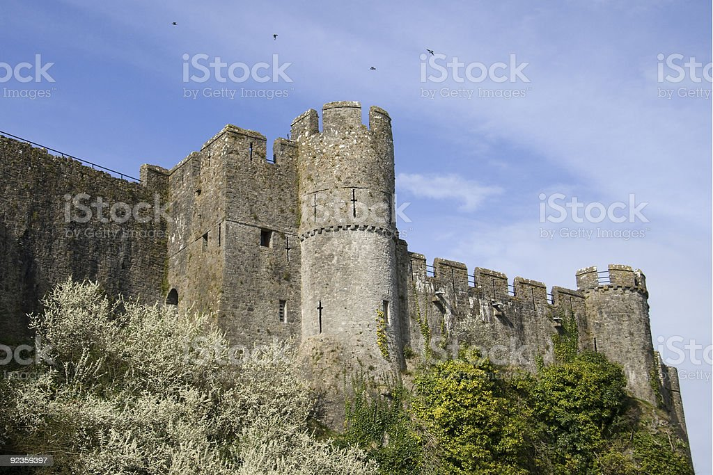 Pembroke Castle stock photo
