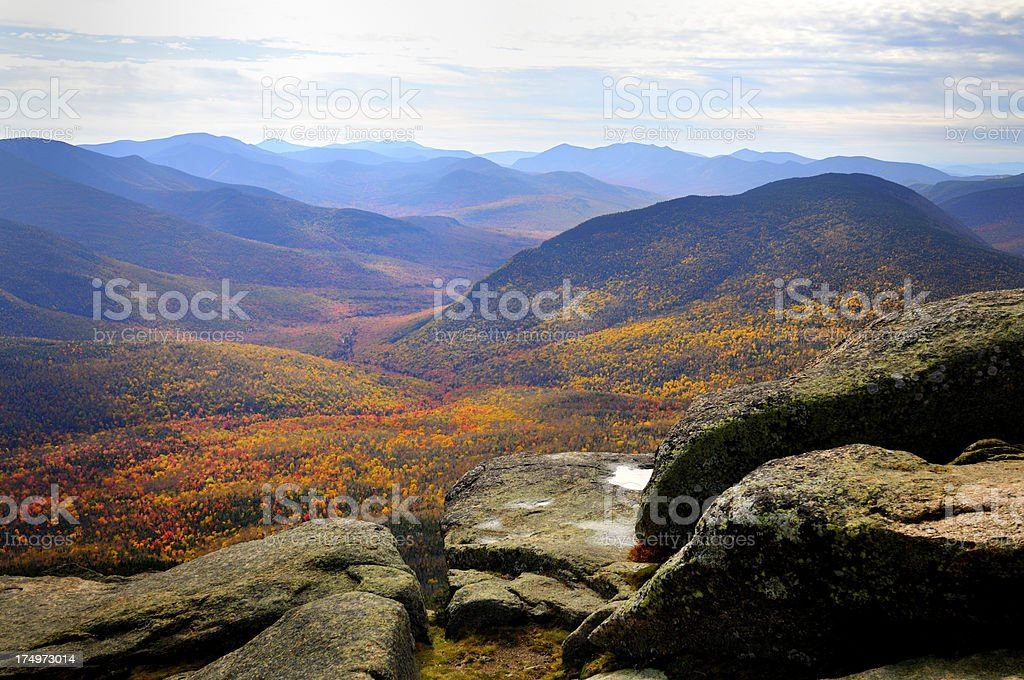 Pemigewasset Wilderness and Owl's Head Mountain stock photo