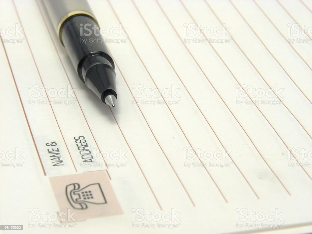 Pen & Address stock photo
