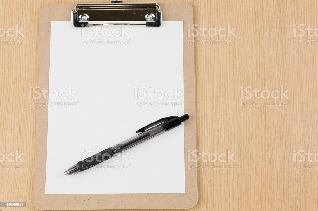 Pen and binder royalty-free stock photo