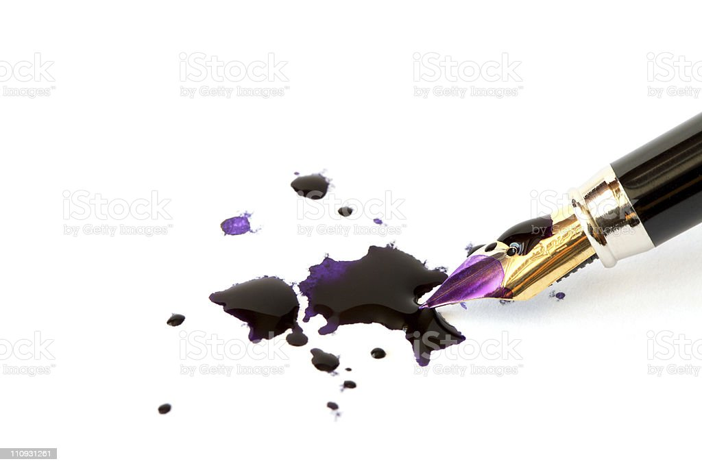 Pen And Blobs royalty-free stock photo