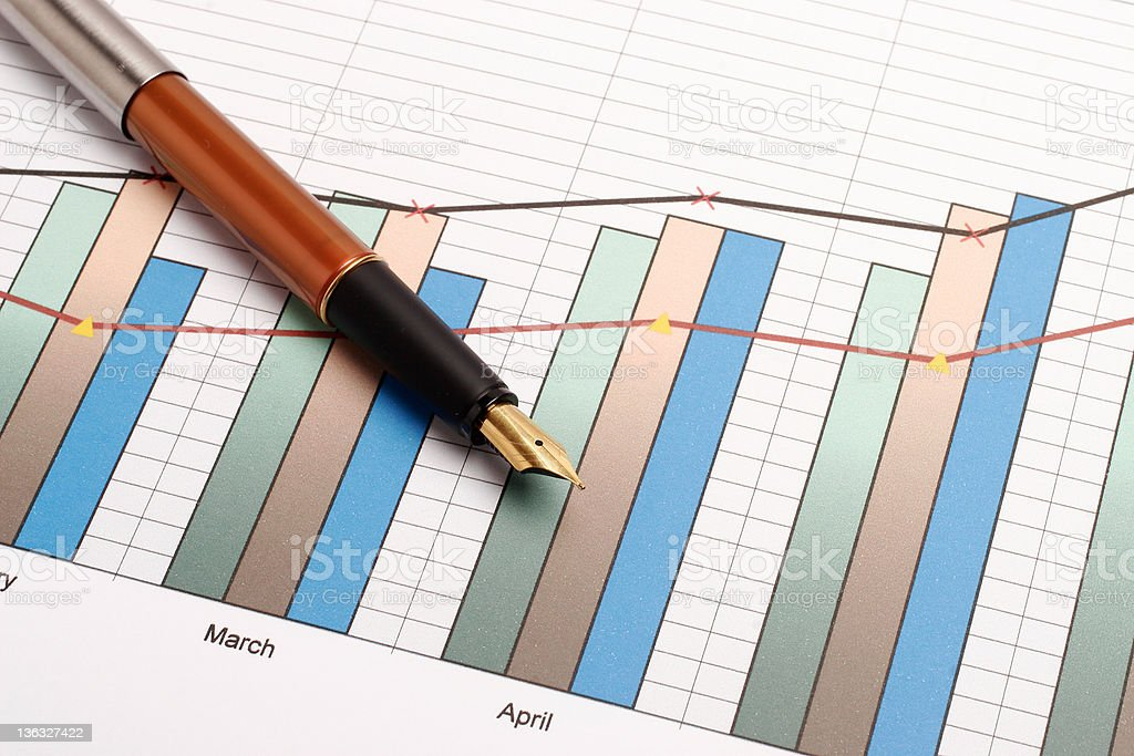 Pen and chart #5 royalty-free stock photo