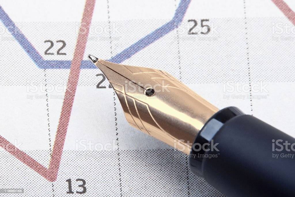 pen and charts stock photo
