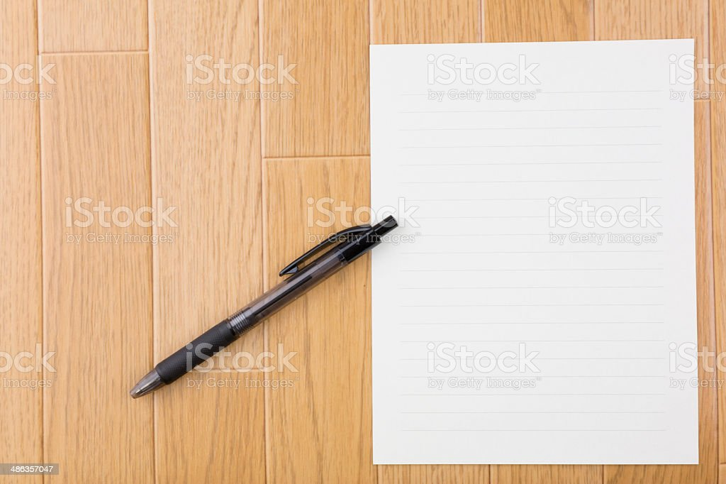 Pen and letter royalty-free stock photo
