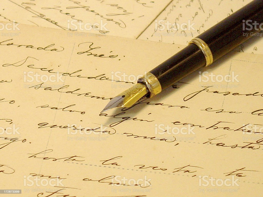 pen and letters royalty-free stock photo