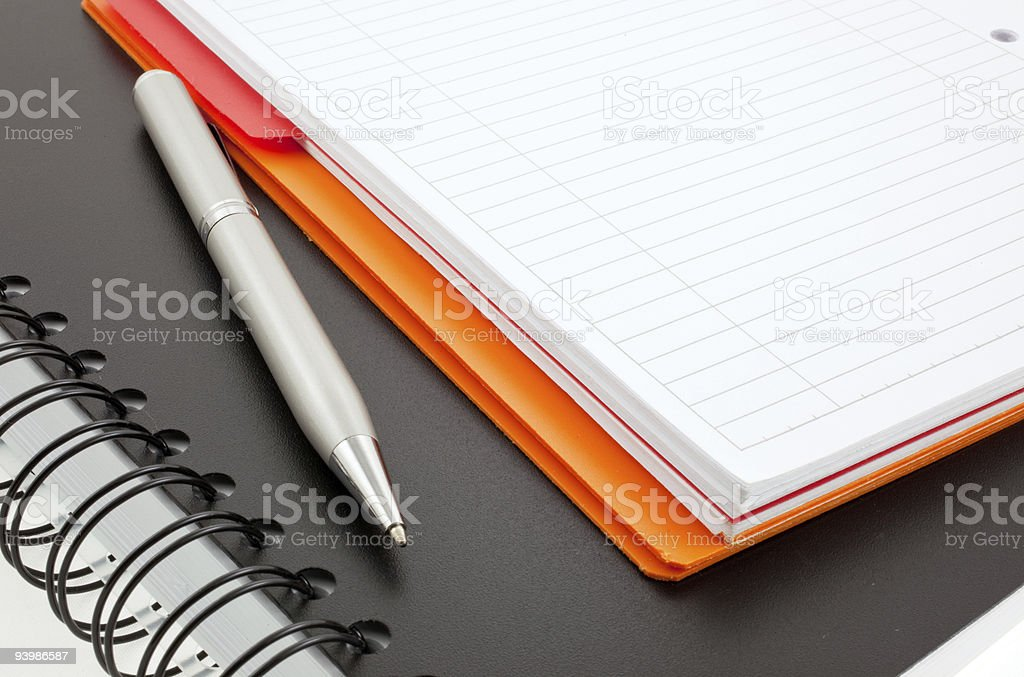 pen and two paper notebooks royalty-free stock photo