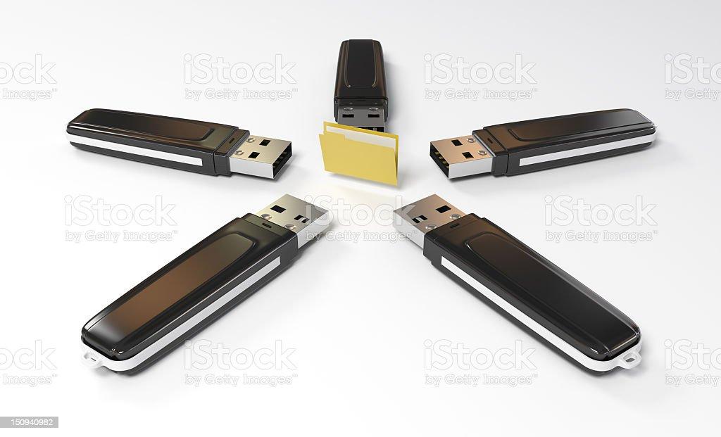 Pen Driver vs Folder stock photo