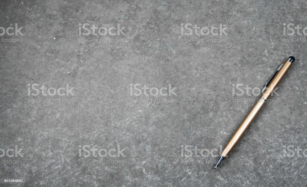 Pen for sign and nib pen for touch screen tablet stock photo