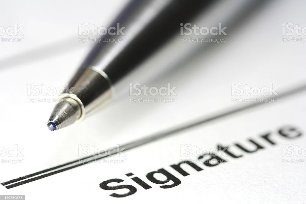 pen for signature royalty-free stock photo