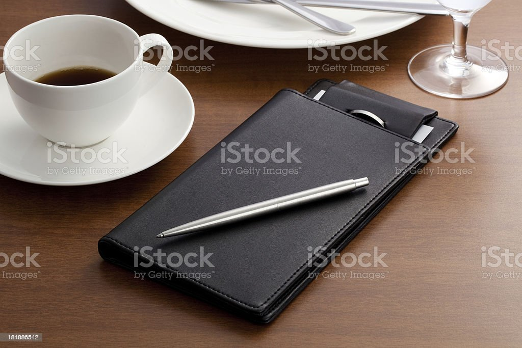 Pen & Guest check book royalty-free stock photo