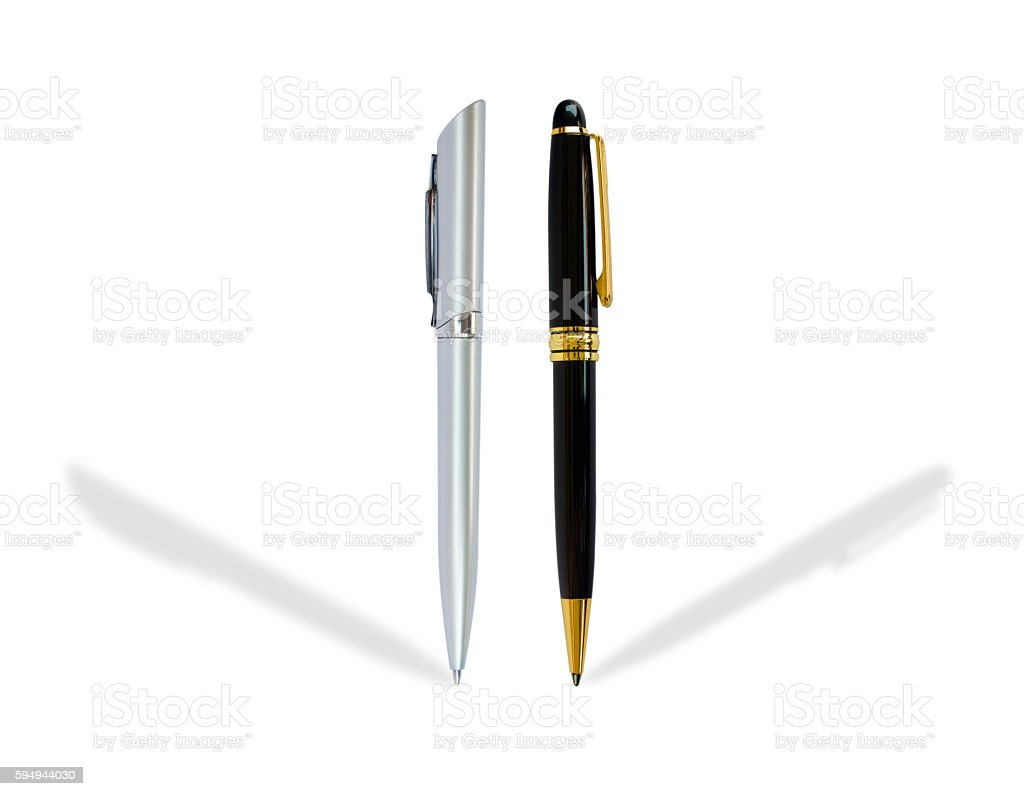 pen isolated on white background stock photo