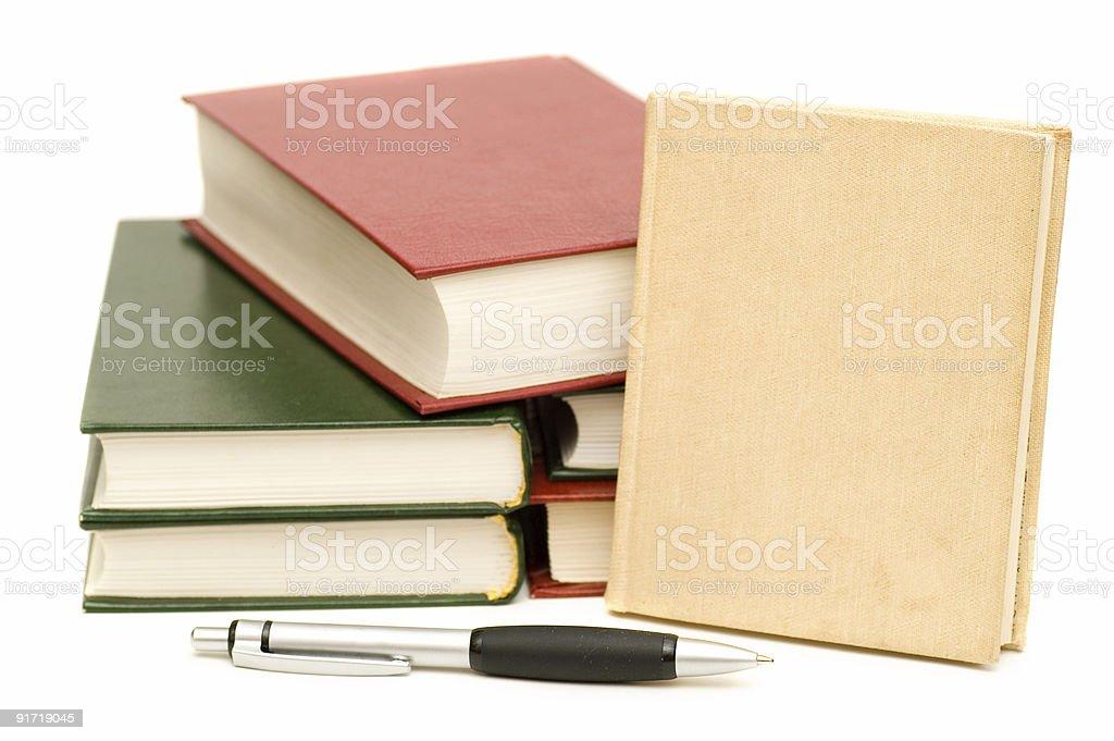 Pen Near Books royalty-free stock photo