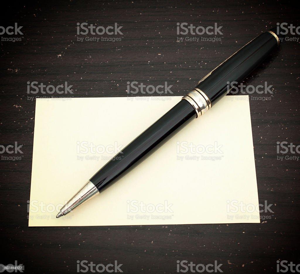 Pen note stock photo