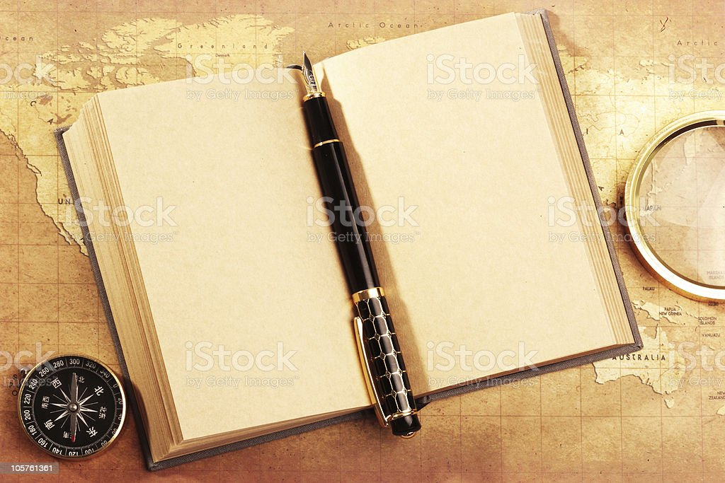 pen on notebook royalty-free stock photo