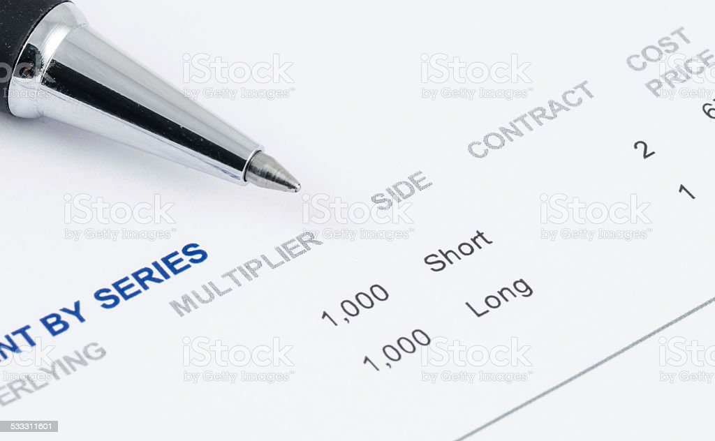 pen on the future contract stock photo