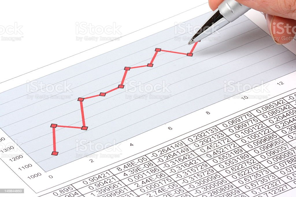 pen showing diagram royalty-free stock photo