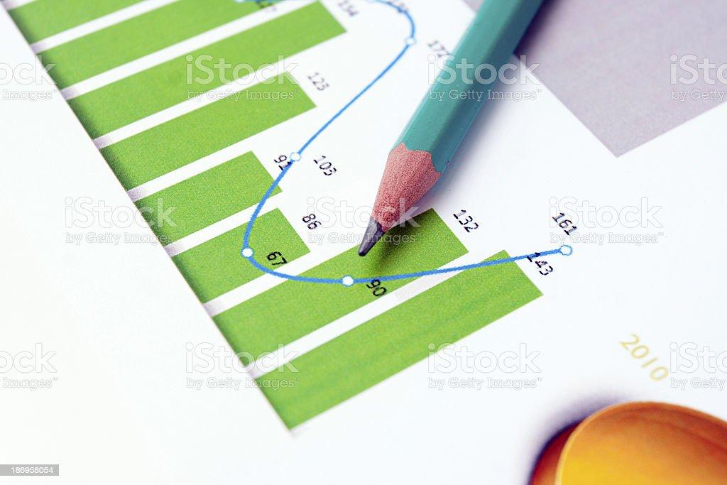 pen showing diagram royalty-free stock photo
