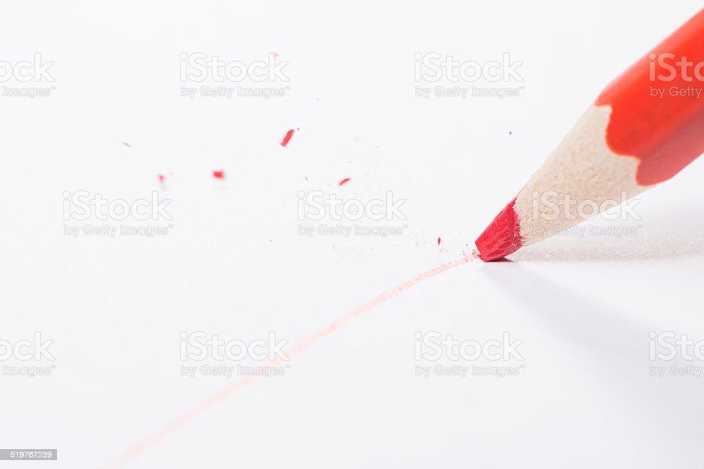 Pen tip breaks stock photo