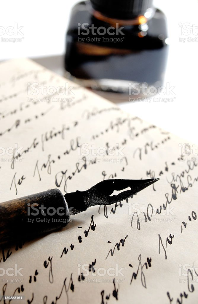 pen with ink royalty-free stock photo