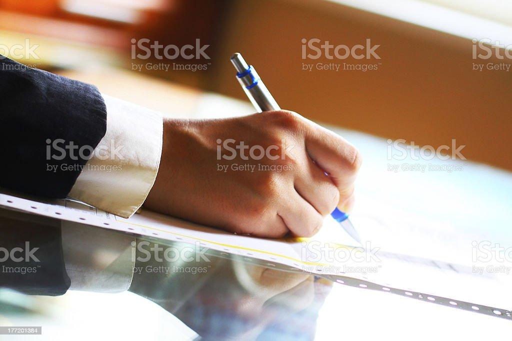 pen  work hand royalty-free stock photo