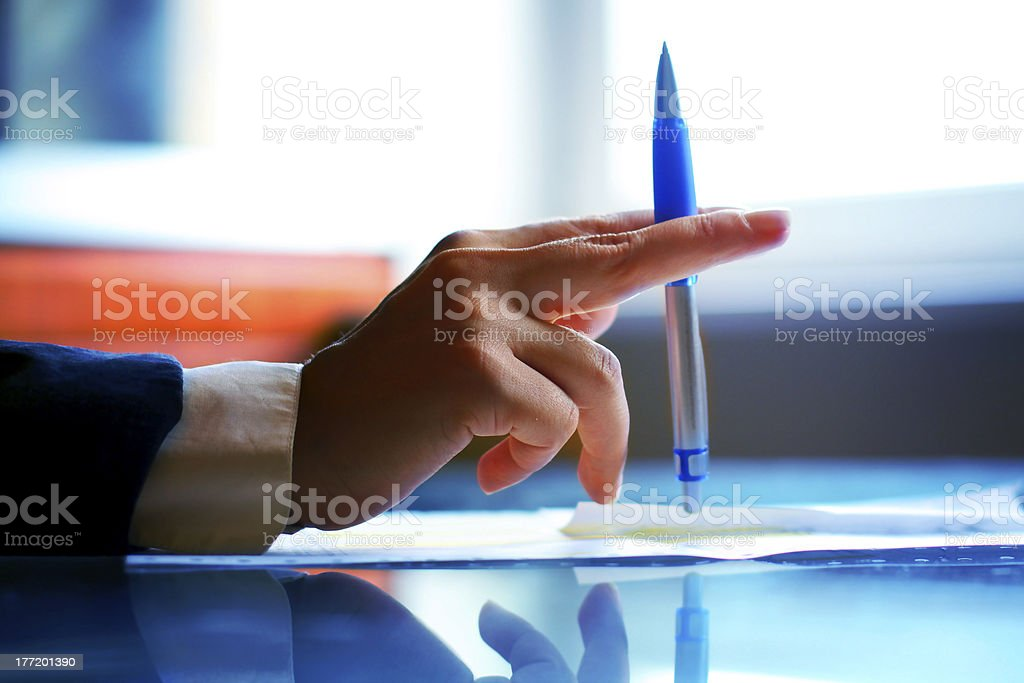 pen  work hand royalty-free stock photo