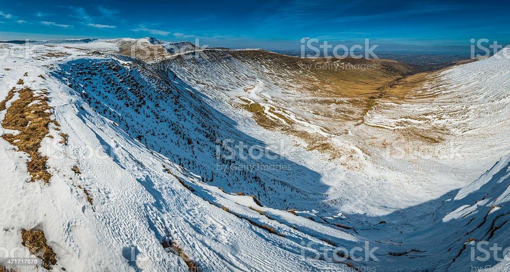 Pen y Fan Brecon Beacons National Park mountain ridges Wales stock photo