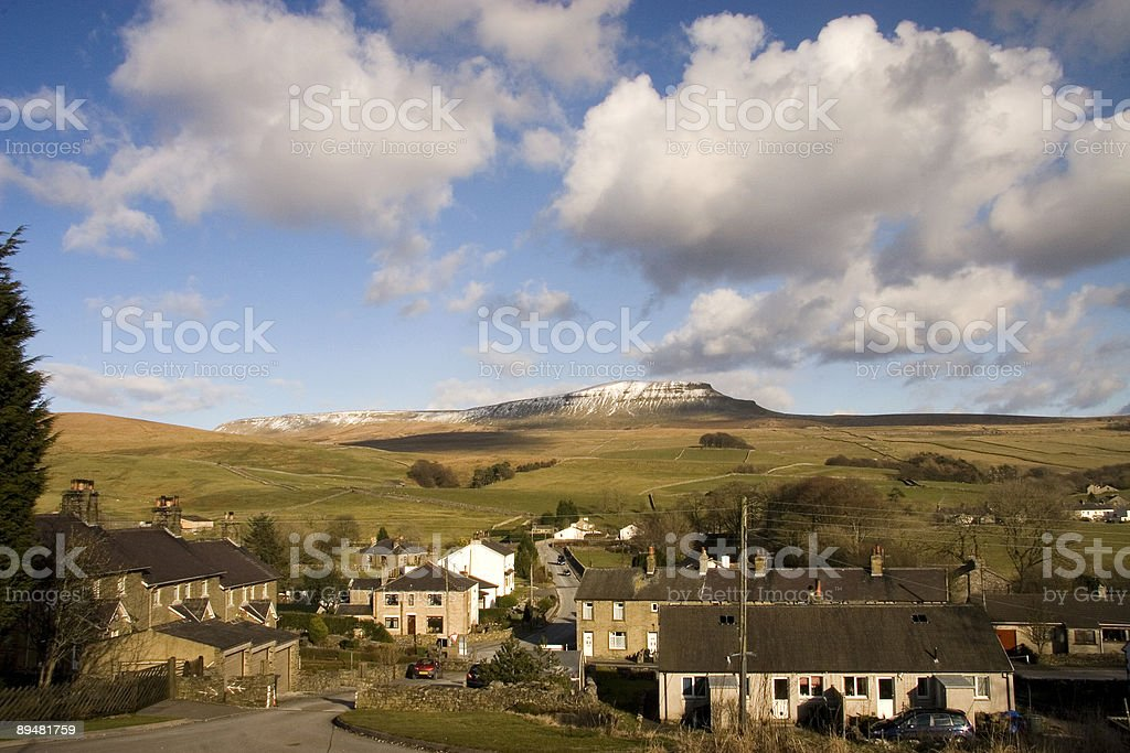 Pen y Ghent Hill Yorkshire dales stock photo