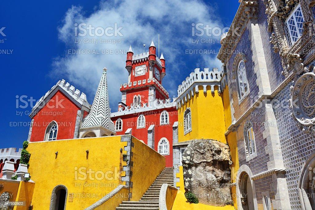 Pena Palace, Sintra stock photo