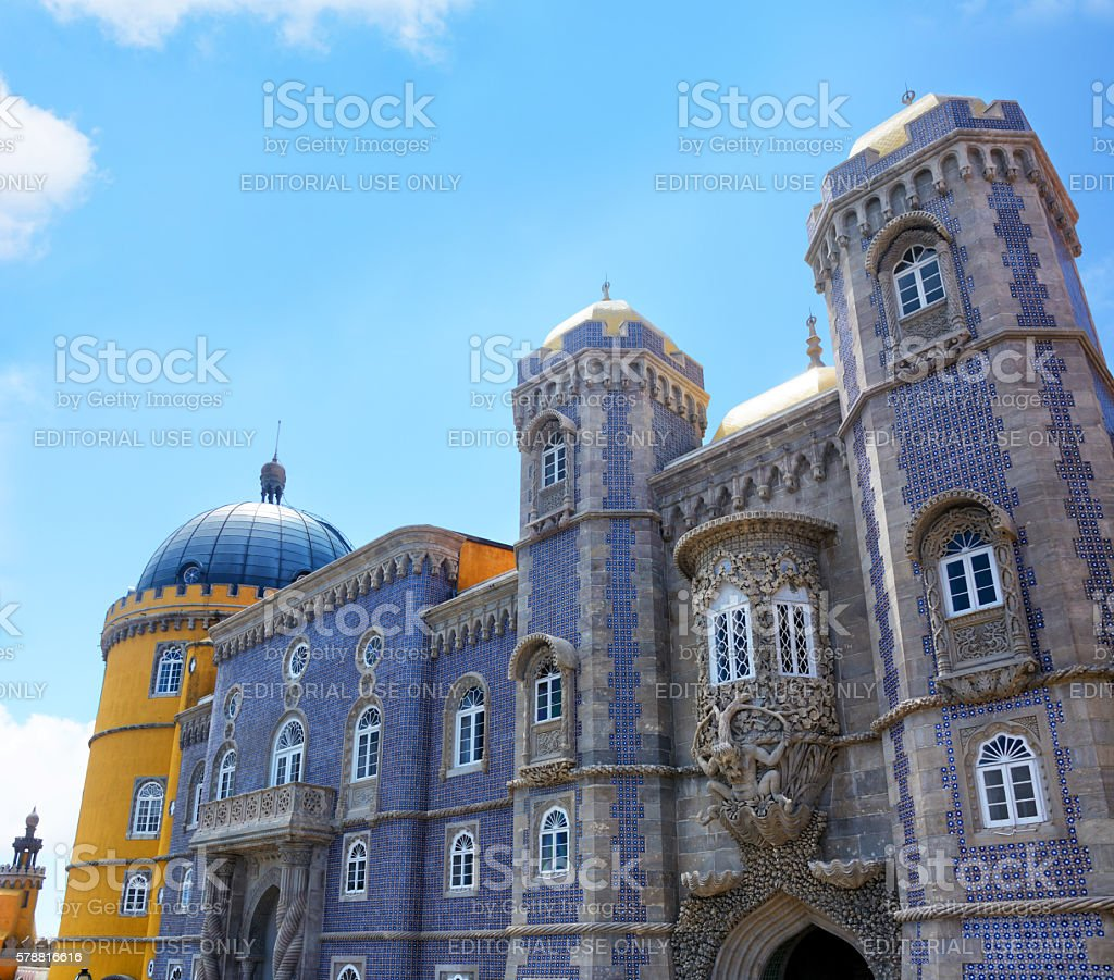 Pena Palace, Sintra stock photo