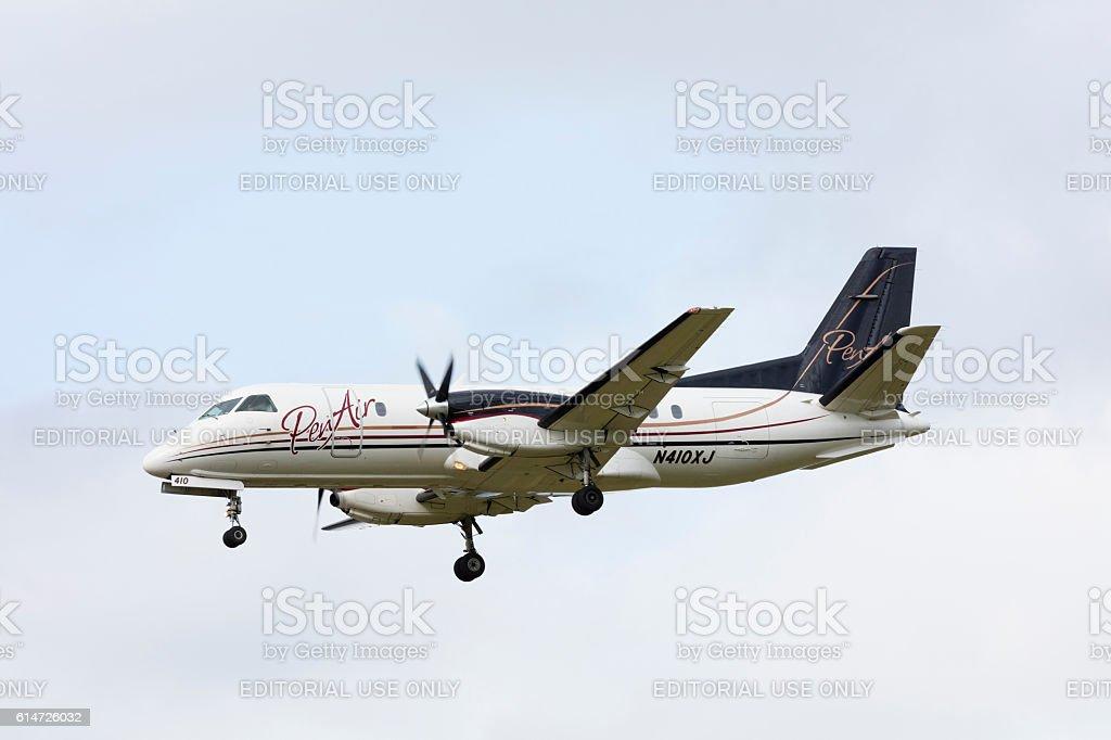 PenAir Saab 340 stock photo