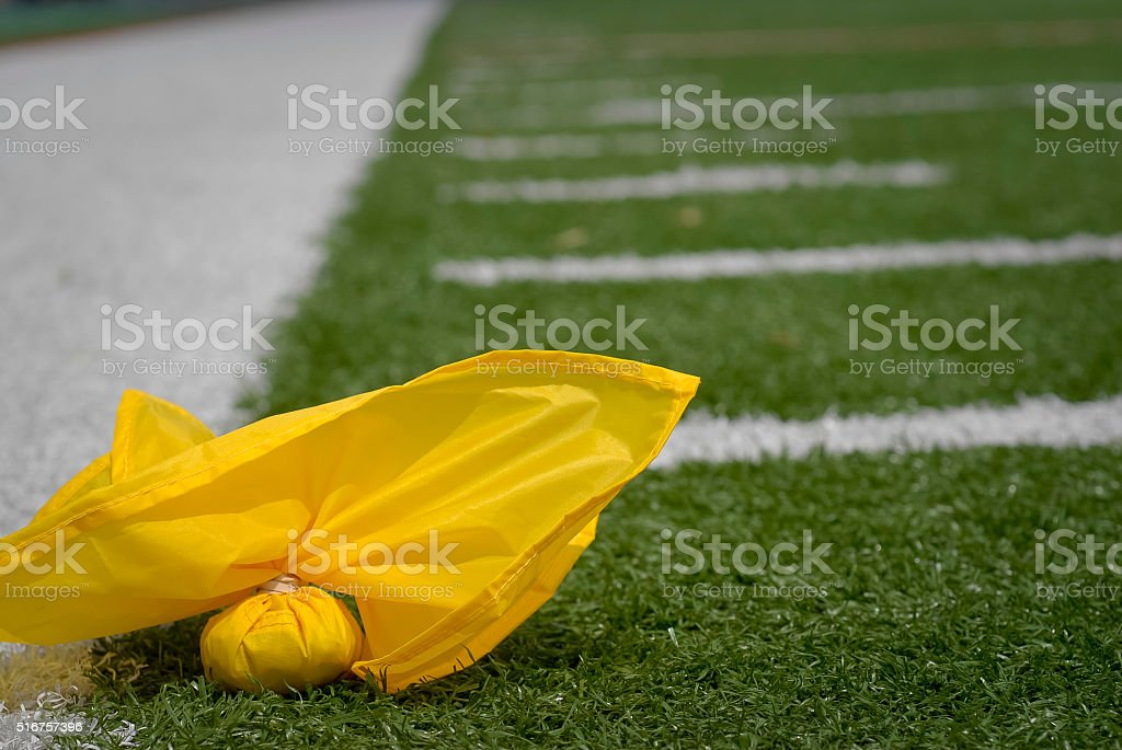 Penalty Flag stock photo