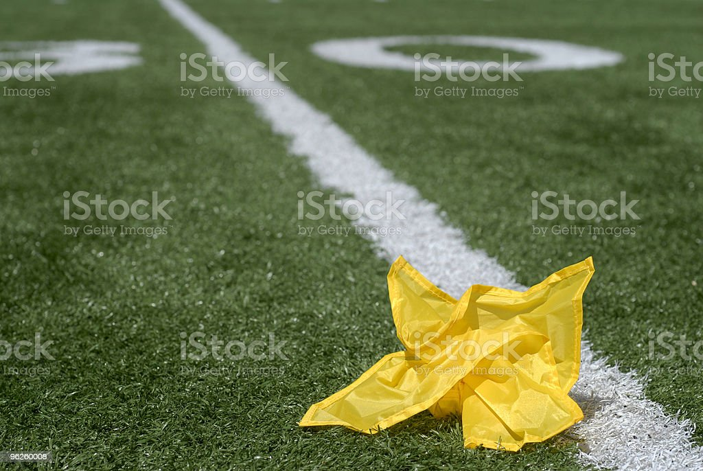 Penalty flag vertical royalty-free stock photo