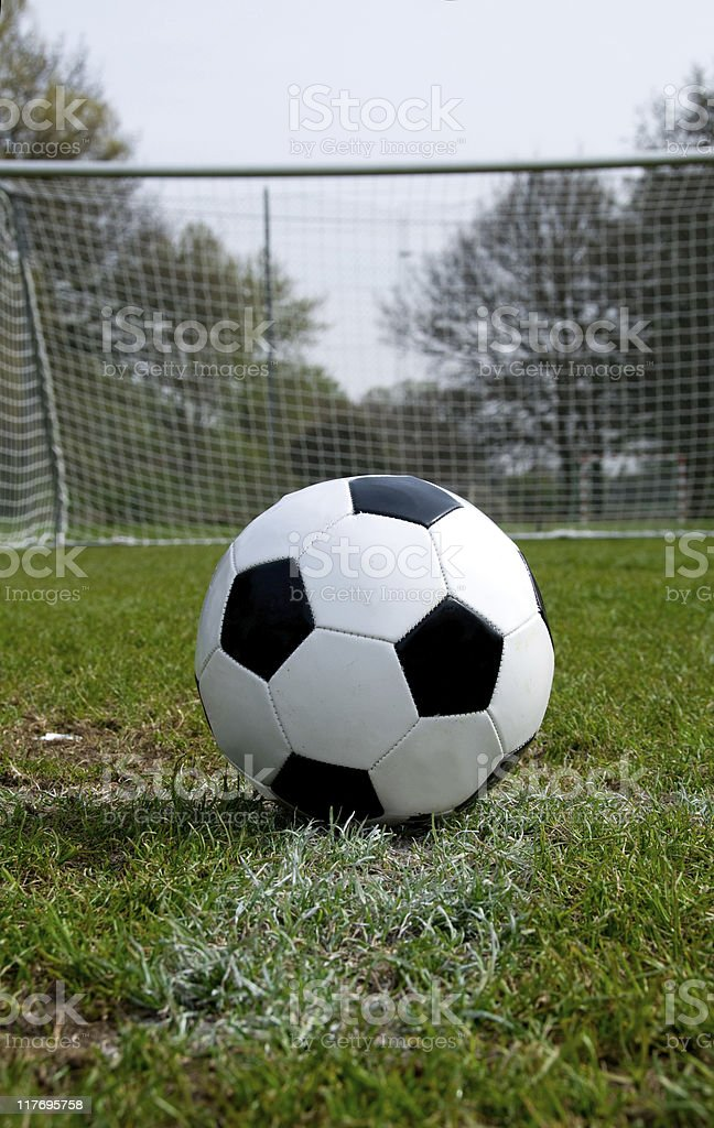 Penalty Shoot Out with ball on the spot royalty-free stock photo