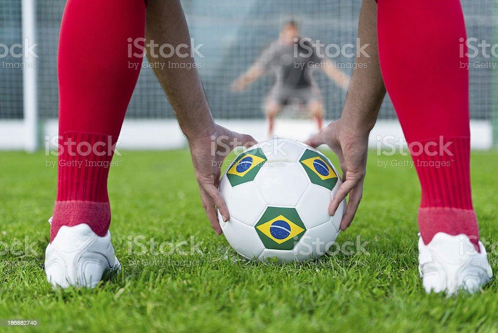 Penalty shootout royalty-free stock photo