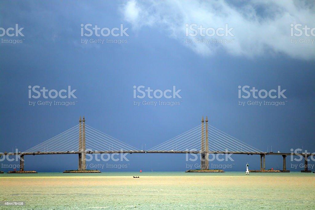Penang bridge, Malaysia stock photo
