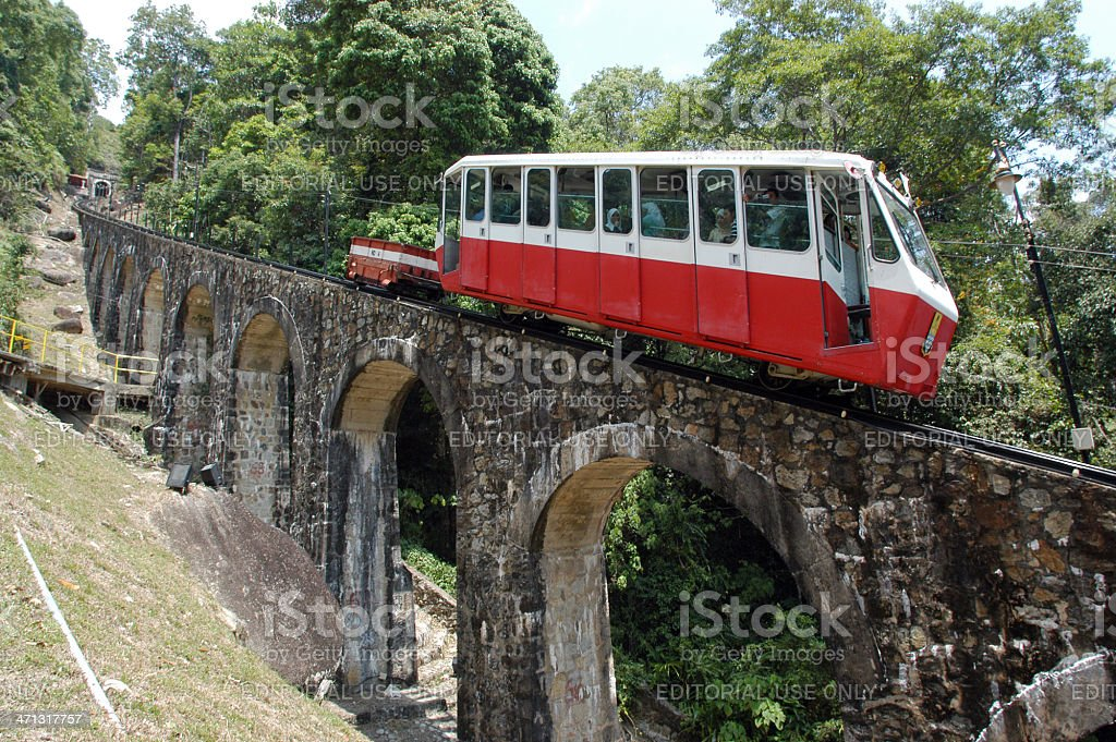 Penang Hill Railway stock photo