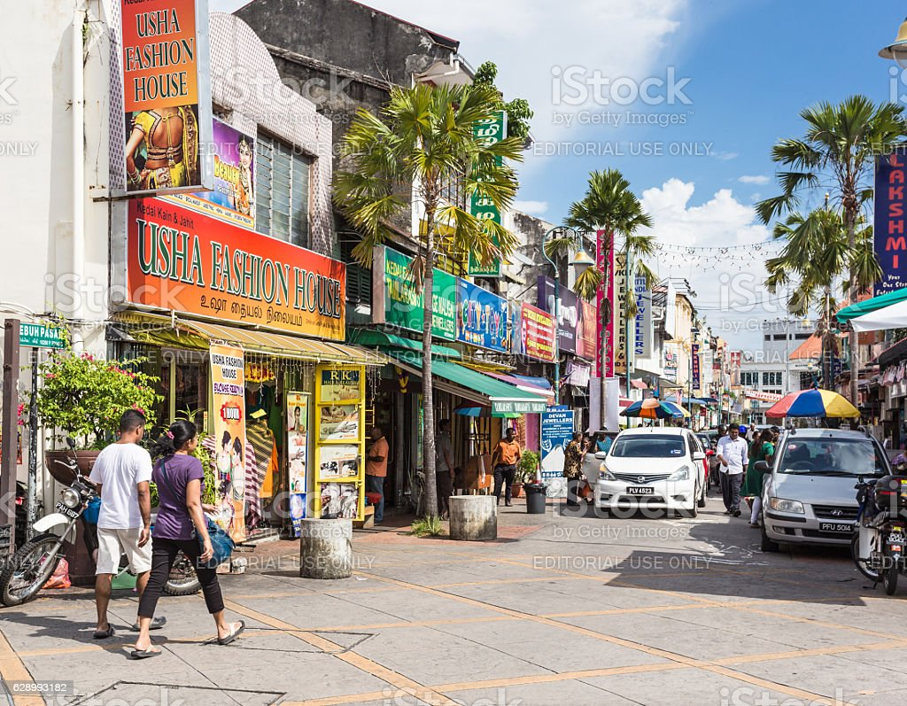 Penang Little India stock photo