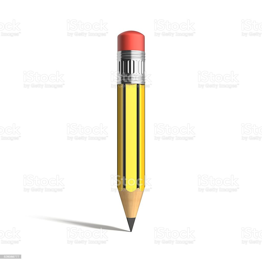 pencil 3d font letter I stock photo