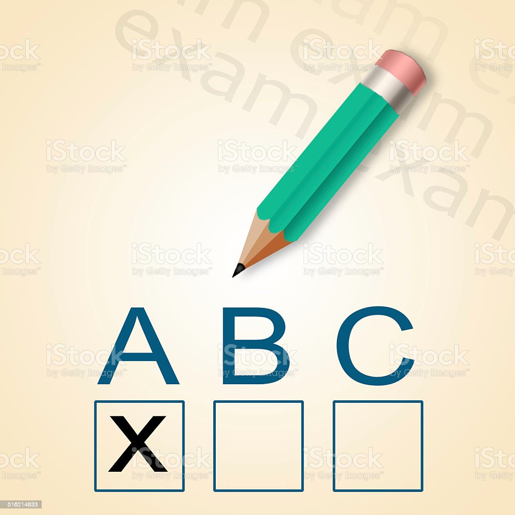 Pencil and ABC test stock photo