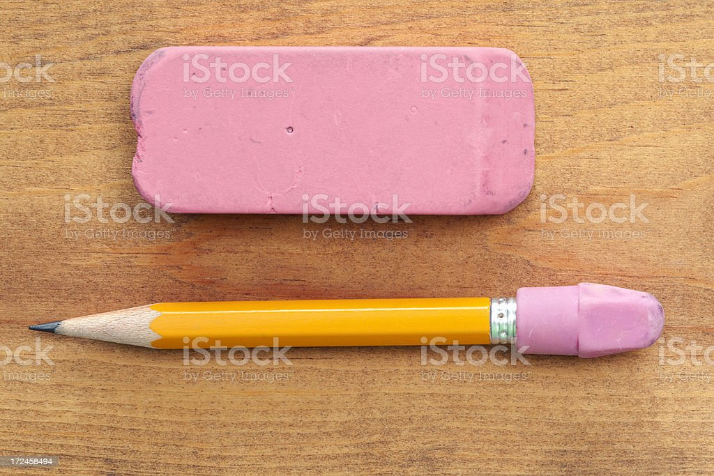 Pencil and Eraser royalty-free stock photo