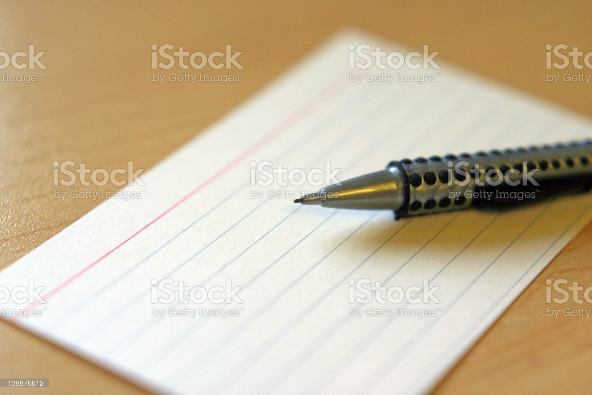 Pencil and Index Card royalty-free stock photo