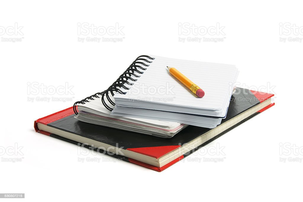 Pencil and Note Books stock photo